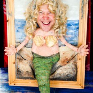 Craig dressed as a mermaid